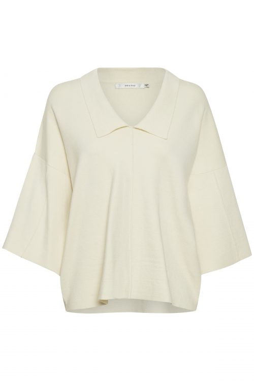 Hvit viskosemix pullover Gestuz - talli pullover