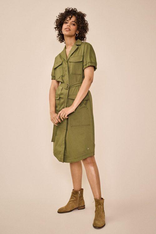 Winter moss safari skjortekjole Mos Mosh - 138310 sierra cole dress