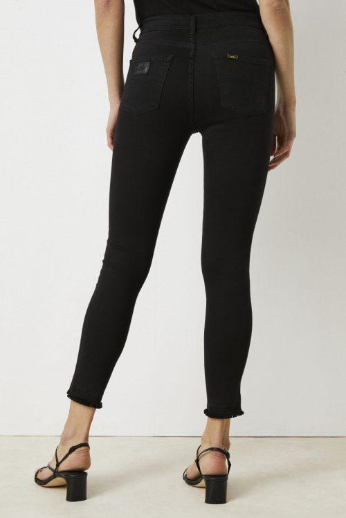 Sort kraftigere bomull smal bukse (uten frynser) Lois Jeans - 2036-6355 kilian noir true L34/L36