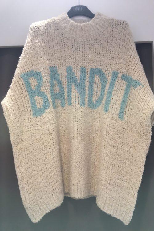 Offwhite 'Bandit' genser Cabana Living - Karen Bandit offwhite/blue