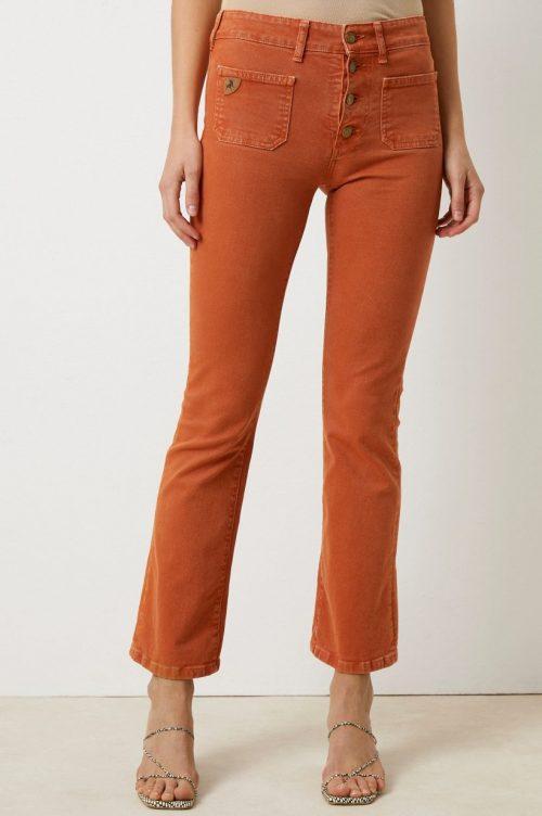 Orange jeans med små lommer og knapper Lois Jeans - Gaucho C gretel color