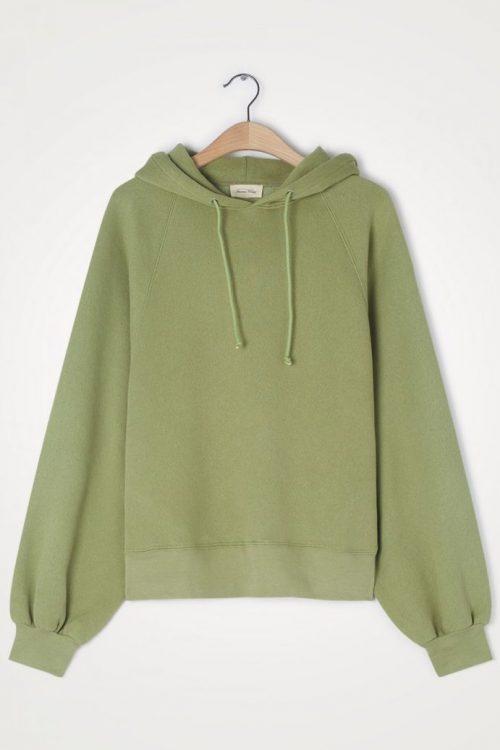 Olivengrønn bomullsmix hoodie American Vintage - ika03a