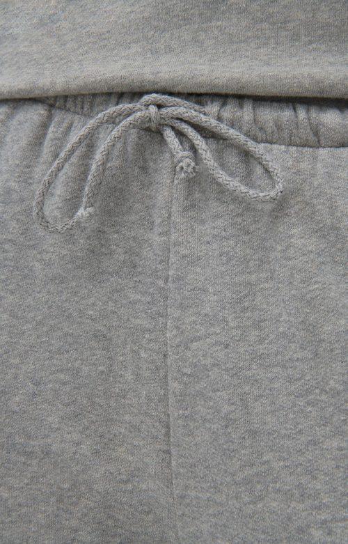 Lys gråmelert myk bomull kosebukse med tilhørende hoodie American Vintage - nea05 og nea03