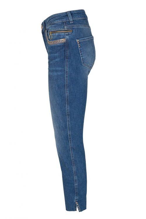 Smal jeans med dekor, glidelås og splitt nederst Mos Mos - 137390 sumner shine jeans ankle blue