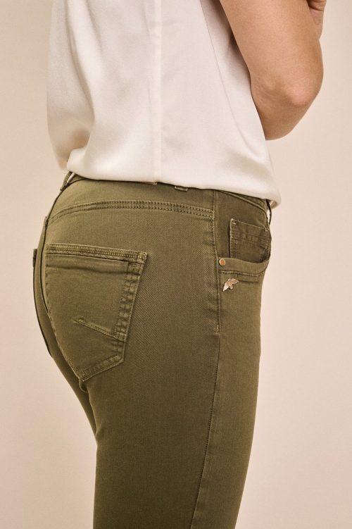 Winter moss bomullsbukse med råkant Mos Mosh - 137470 sumner dia color pant