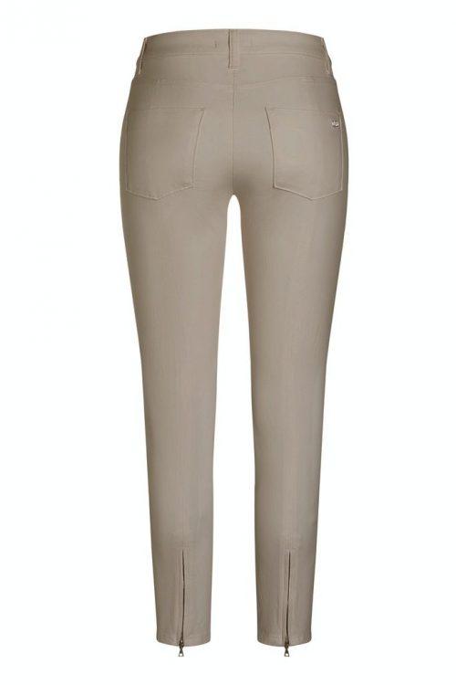 Sand eller marine bomull bukse med glidelås bak nederst Cambio - 8122 0019-38 pierra 28