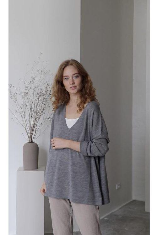 Moonstruck 100% myk ull v-genser Gai + Lisva - felina 11366