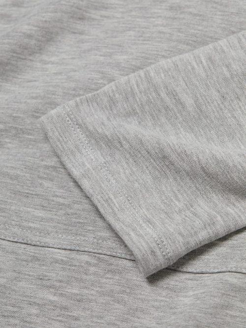 Lys gråmelert soft touch viskose hoodie Majestic - m003 fsw 053