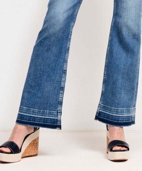 Bleached flare jeans med søm nederst Cambio - 9167 0012-00 paris flare 32