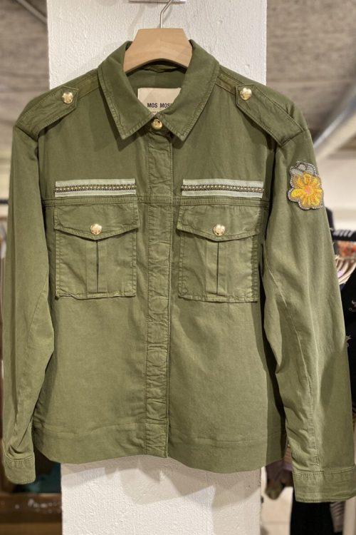 Winter moss bom jakke med armydetaljer Mos Mosh - 138370 kiara trail jacket