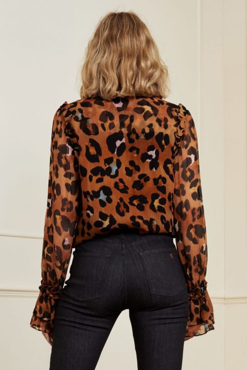 Leopard bluse Fabienne Chapot - carmen