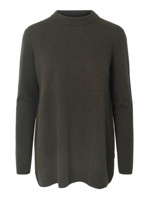 Grønn strikket cashmere/merino oversized genser Ella&Il - ellinor wool sweater