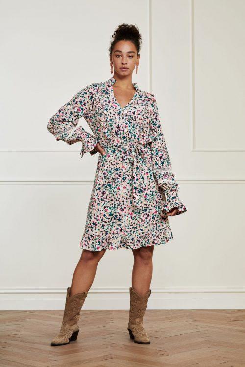 Love cloud rosa multiprint viskose kjole Fabienne Chapot - cleo dress