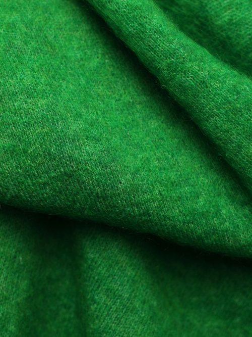 Gressgrønn eller gråmelert mohairmix stort skjerf American Vintage - zabi20A