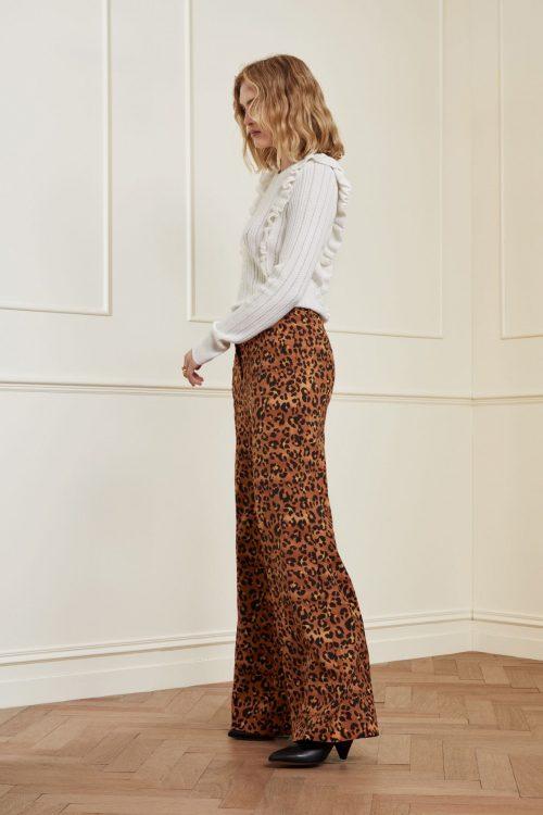 Leopard bukse med høyt liv Fabienne Chapot - puck trousers