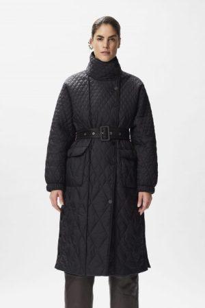 Sort vattert kåpe Gestuz - evala coat