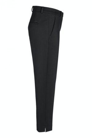Sort eller hazel taupe superstretch dressbukse med splitt nederst Cambio - 6332 0300-25 krystal 27