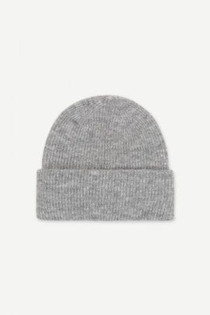 Alpakka lue i mange farger Samsøe - 7355 nor hat / grey melange