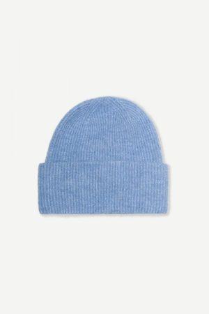 Alpakka lue i mange farger Samsøe - 7355 nor hat / lichen blue melange