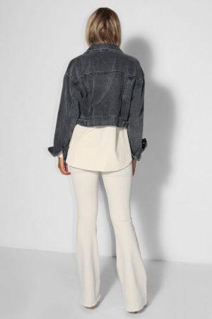 Ecru eller olivengrønn 'Raval' flare bukse Lois Jeans - 2007-6491 raval megalia shot L32/L34