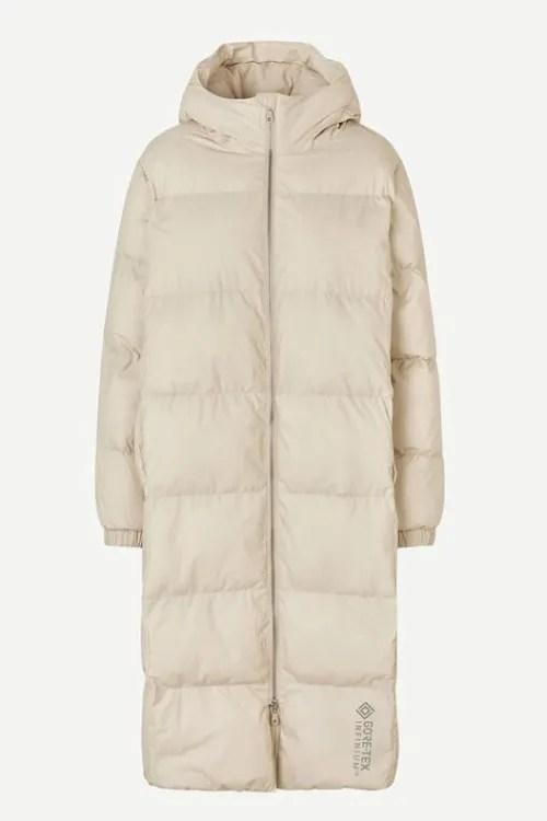 Sandoffwhite Gore-Tex boblekåpe med hette Samsøe - 13038 cloud coat