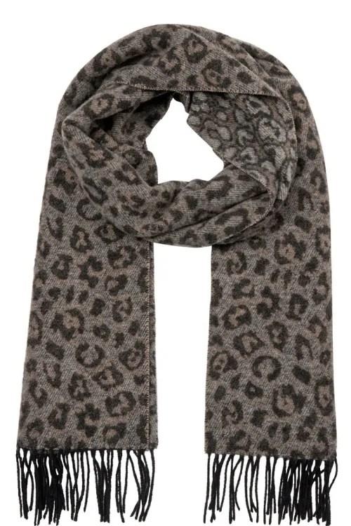 Blue leopard 100% ull skjerf Mos Mosh - 139620 mm leo scarf