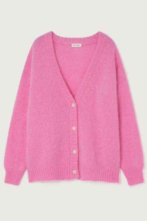 Flame eller lipstick mohair oversized cardigan American Vintage - pino19a