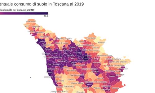 Consumo di suolo in Toscana