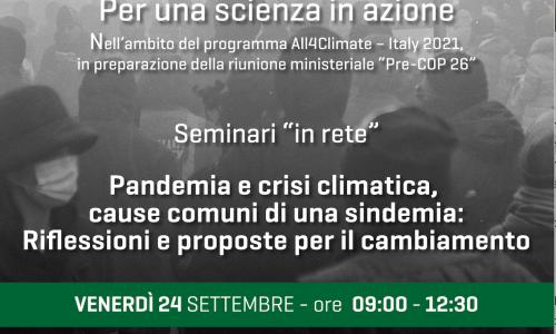 Per una scienza in azione. La pandemia da COVID-19 e la crisi climatica: gli impatti