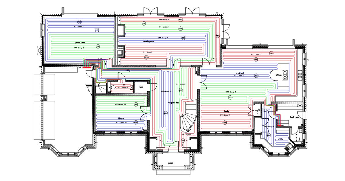 underfloor heating CAD design