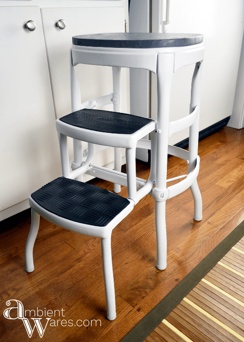 Vintage Cosco Step Stool Gets A Modern
