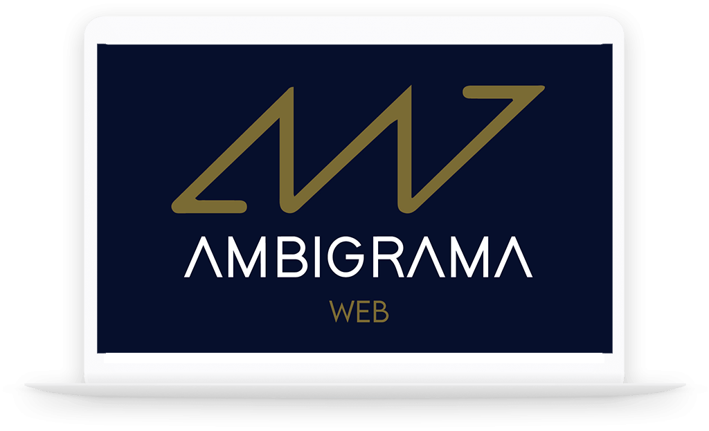 Seo Ambigrama web laptop