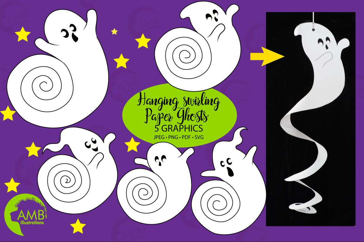 Halloween Swirly Ghosts Printables Freebie