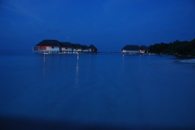The spa by night....