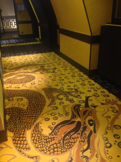 Even the corridors have very funky, oriental themes.