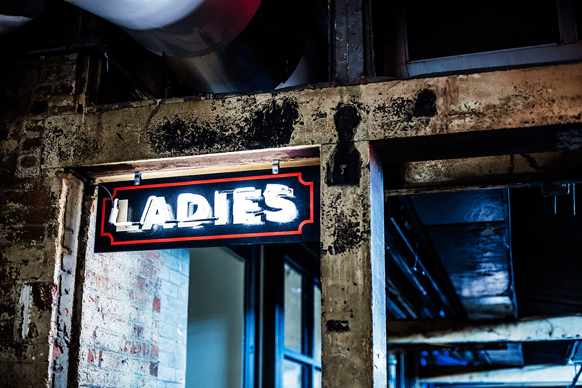 Ladies room sign Photos of Winter in New York City february 2015