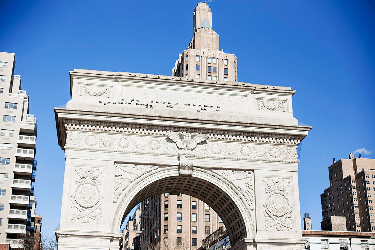 Beautiful photos of New York City February 2015 Washington Square Arch