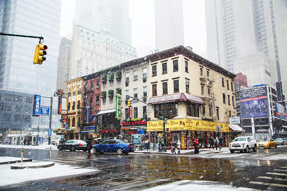 Beautiful photos of New York City February 2015 Manhattan under the snow