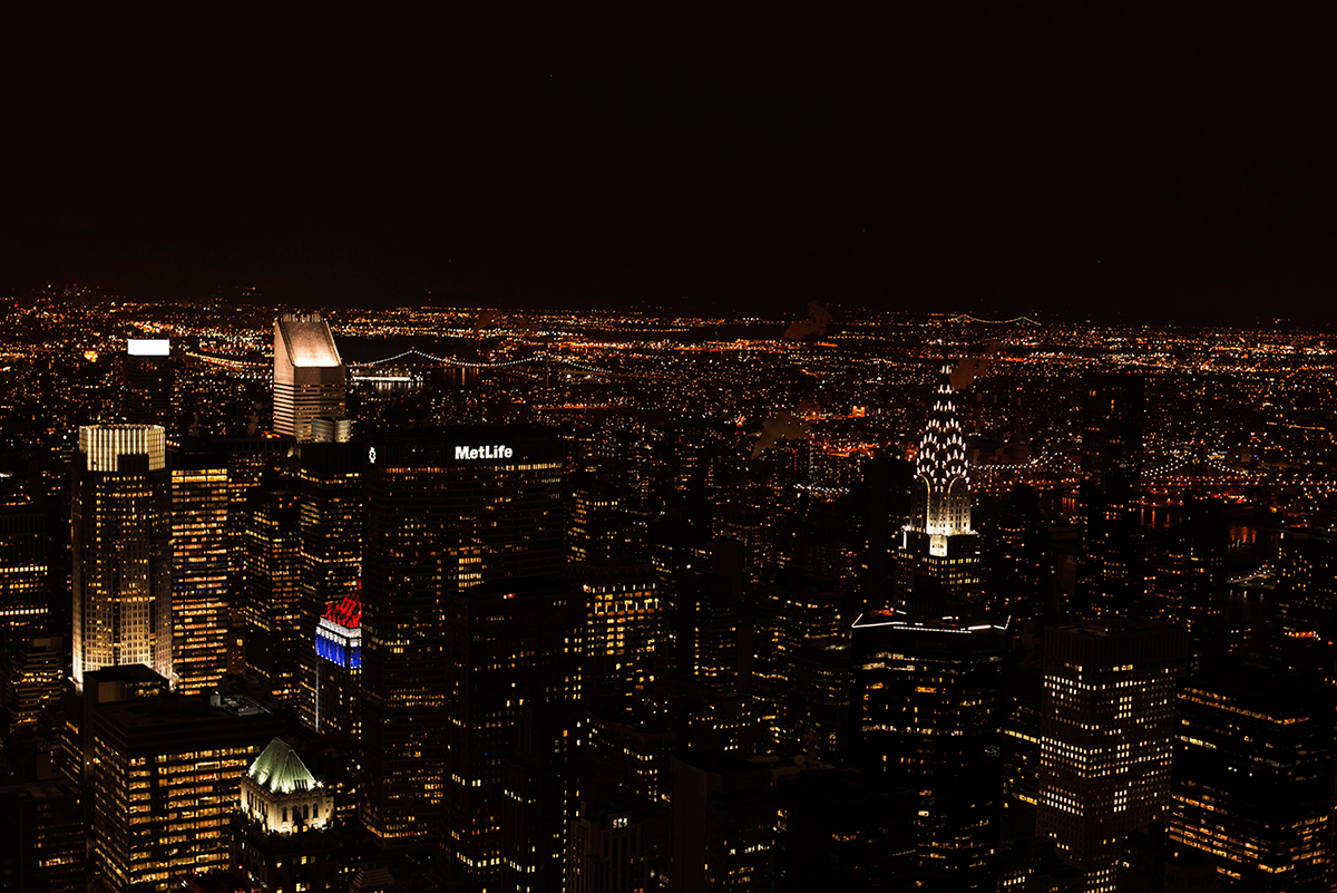 Night view New York City february 2015 photo journal