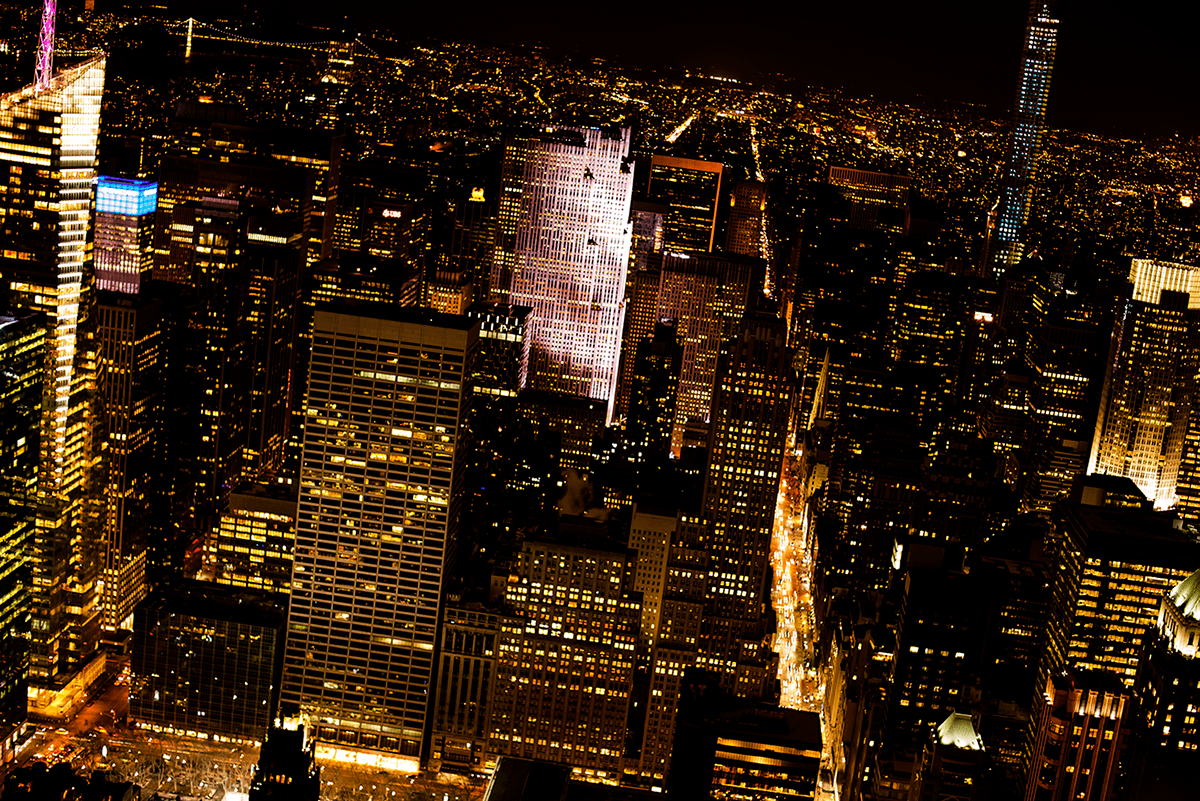 Empire State at night New York City february 2015 photo journal