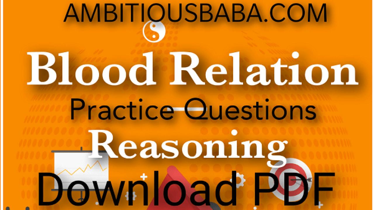 Blood Relation | Reasoning | Download PDF