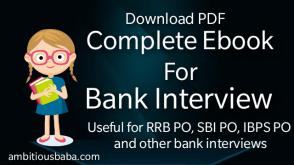 Bank interview E-book