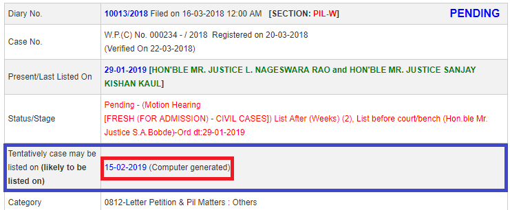supreme court hearing ssc cgl chsl 2017