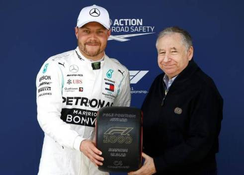Chinese Grand Prix: Valtteri Bottas on pole for Formula One's 1,000th race