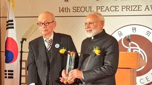 PM Narendra Modi awarded 2018 Seoul Peace Prize for 'Modinomics', 'furthering democracy in India'