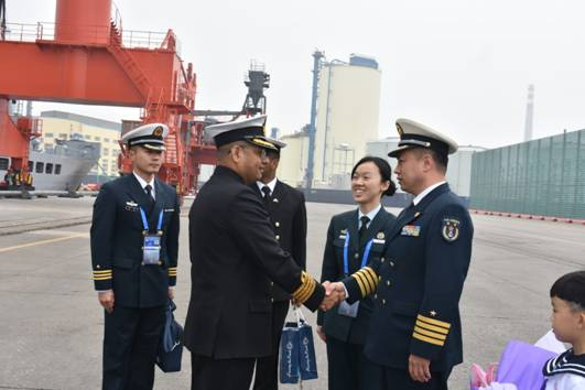 IN Ships Kolkata and Shakti are at Qingdao, China to participate in IFR to mark 70TH Anniversary of PLA(N)