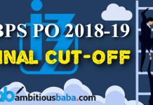 ibps pio 2019 final cutoff