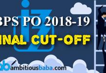 ibps pio 2019 final cutoff