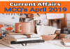 Current affairs MCQ pdf April 2019