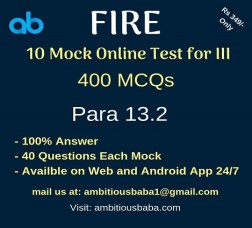 Fire mock test